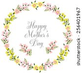 happy mothers day card design.... | Shutterstock .eps vector #256401967