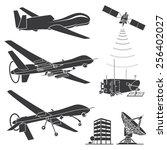 military drones. vector... | Shutterstock .eps vector #256402027