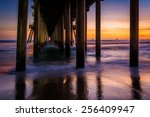 Under The Pier At Sunset  In...