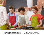 cooking class  culinary  food... | Shutterstock . vector #256410943