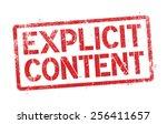 explicit content | Shutterstock .eps vector #256411657