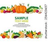 vegetables vector illustration.    Shutterstock .eps vector #256423657
