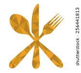 fork spoon knife geometric | Shutterstock .eps vector #256441813