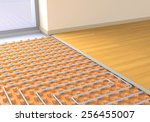 one room with a floor heating... | Shutterstock . vector #256455007