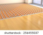 one room with a floor heating... | Shutterstock . vector #256455037