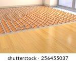 one room with a floor heating... | Shutterstock . vector #256455037