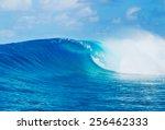 blue ocean wave  epic surf   Shutterstock . vector #256462333