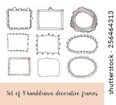 set of creative hand drawn... | Shutterstock .eps vector #256464313