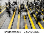 motion blurred and color tone... | Shutterstock . vector #256490833