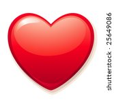 a big red heart | Shutterstock .eps vector #25649086