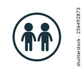 couple icon on white background  | Shutterstock . vector #256492873