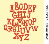 simple letters. alphabet | Shutterstock .eps vector #256517533