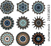 drawing of a nine different... | Shutterstock .eps vector #256518013