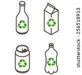 recycling icons   glass bottle  ... | Shutterstock .eps vector #256518913