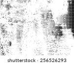 grunge halftone dots vector... | Shutterstock .eps vector #256526293