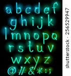 sparkling letters of the... | Shutterstock .eps vector #256529947