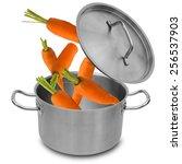 Fresh Carrot Falling Into...