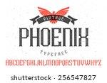 "vintage font ""phoenix typeface"" | Shutterstock .eps vector #256547827"