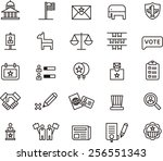 usa politics icon set | Shutterstock .eps vector #256551343