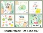 spring sale design. collection... | Shutterstock .eps vector #256555507