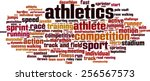 athletics word cloud concept.... | Shutterstock .eps vector #256567573