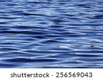 beautiful blue rippling waters | Shutterstock . vector #256569043