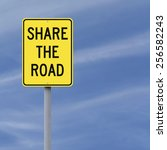 a road sign indicating share... | Shutterstock . vector #256582243