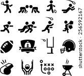 american football icon set.