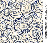 abstract floral ethnic seamless ... | Shutterstock .eps vector #256607377