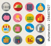 financial icons | Shutterstock .eps vector #256607827