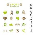 vector flat icon set   sport