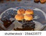 aloo tikki or fried potato... | Shutterstock . vector #256623577