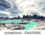 alien planet   3d rendered... | Shutterstock . vector #256625083