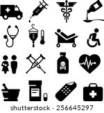 health and medical icon set.... | Shutterstock .eps vector #256645297