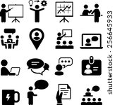 seminar and meeting icons   Shutterstock .eps vector #256645933