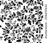 seamless vector floral pattern... | Shutterstock .eps vector #256654633