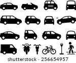cars  automobiles  motorcycles  ... | Shutterstock .eps vector #256654957