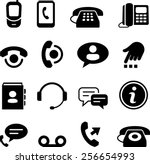 phone and call center icons | Shutterstock .eps vector #256654993