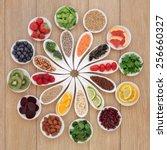 health detox super food... | Shutterstock . vector #256660327