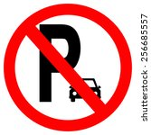 parking sign. vector... | Shutterstock .eps vector #256685557