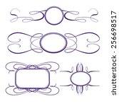 vector calligraphy frames set | Shutterstock .eps vector #256698517