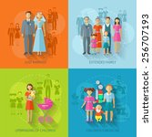 family design concept set with... | Shutterstock .eps vector #256707193
