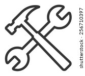 hammer and wrench   spanner...