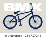 bmx bicycle isolated and... | Shutterstock .eps vector #256717243
