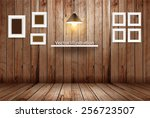 Empty Wooden Room  Vector...
