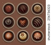 Vector Set Of Chocolate Candies