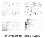 grunge textures set.grunge... | Shutterstock .eps vector #256746007