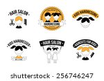 set of kids hair salon logo... | Shutterstock .eps vector #256746247