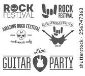 set of vintage logo  sticker ... | Shutterstock .eps vector #256747363