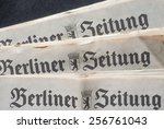 Small photo of BERLIN, GERMANY - FEBRUARY 9, 2015: Berliner Zeitung newspaper masthead nameplate